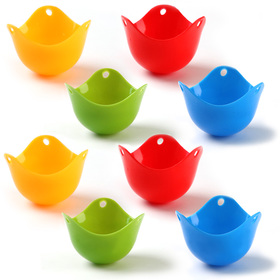 HOMI CHEF Set of 8 Silicone Egg Poacher Cups